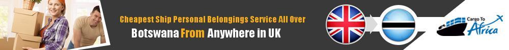 Send Personal Belongings to Botswana by Air & Sea Cargo