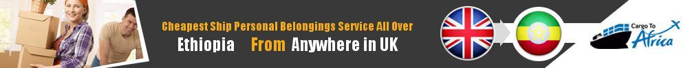 Send Personal Belongings to Ethiopia by Air & Sea Cargo