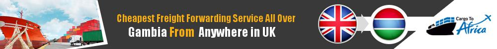 Cheapest Freight Forwarding to Gambia from UK