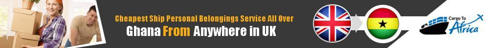 Send Personal Belongings to Ghana by Air & Sea Cargo