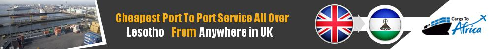 Send Sea Cargo to Any Port in Lesotho from Any UK Port
