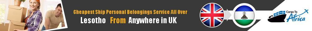 Send Personal Belongings to Lesotho by Air & Sea Cargo