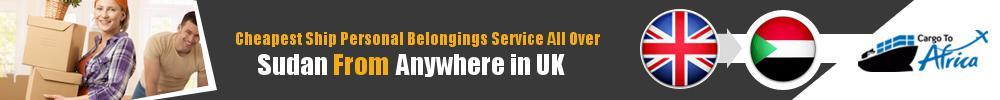 Send Personal Belongings to Sudan by Air & Sea Cargo