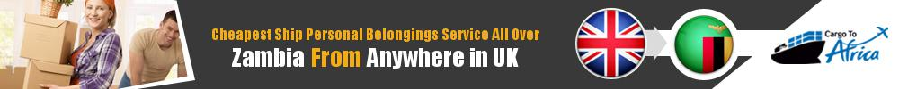 Send Personal Belongings to Zambia by Air & Sea Cargo